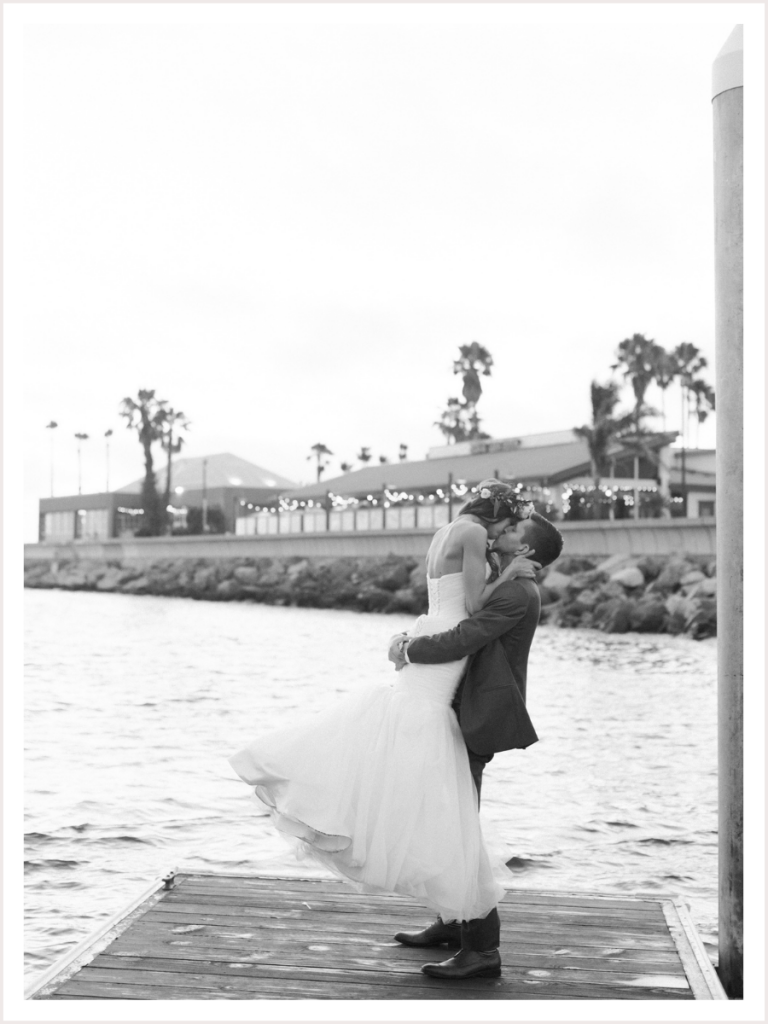 Bride and Groom taking Couple Portraits